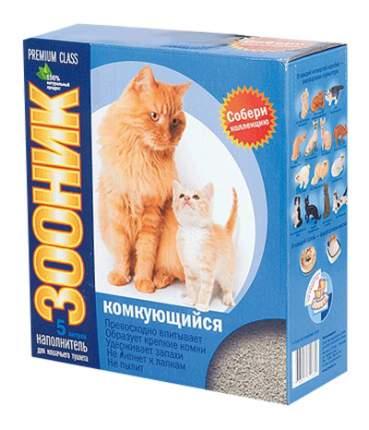 Комкующийся наполнитель для кошек Зооник бентонитовый, 3.875 кг, 5 л