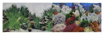 Фон для аквариума Prime Морской пейзаж/Подводный рельеф 50х100см