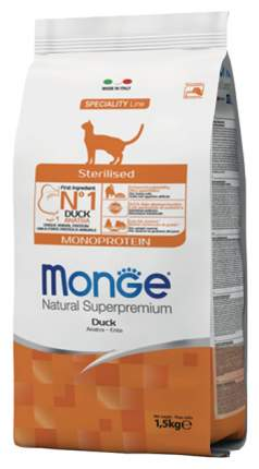 Сухой корм для кошек Monge Monoprotein, монопротеиновый, утка, 1,5кг