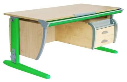 Парта Дэми СУТ-15-03 с подвесной тумбой Клен Зеленый 120х55 см