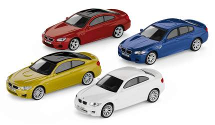 Коллекционный набор из 4-х моделей BMW M-серии, 1:64 scale, артикул 80452365554
