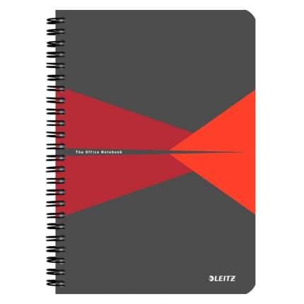 """Бизнес-тетрадь """"Office Card"""", А5, 90 листов, клетка, красный + серый"""