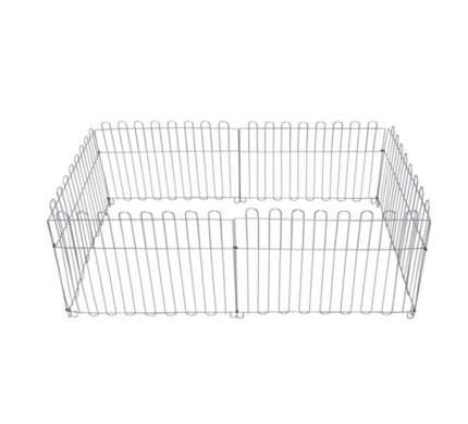 Вольер Dog Land оцинкованный, размер секции 64х63 см, в ассортименте, 8 секций