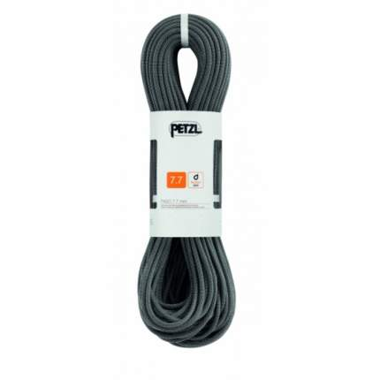 Веревка динамическая двойная Petzl Paso 7,7 мм, черная, 70 м