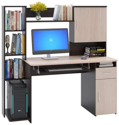 Компьютерный стол СОКОЛ КСТ-11.1 148,6x60x144,4 см, бежевый/коричневый