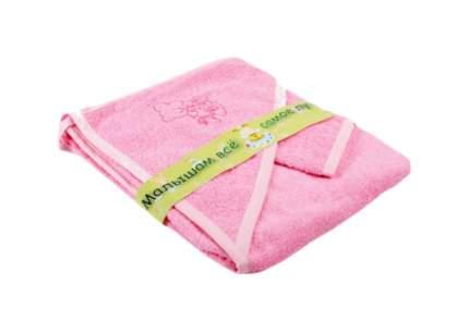 Полотенце BOMBUS с варежкой розовое 96*96 см