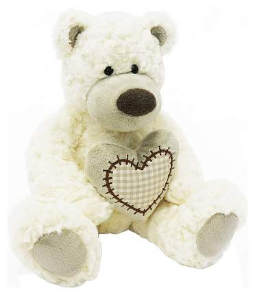 """Мягкая игрушка """"Мишка Лавли с сердцем"""", белый, 19 см Maxitoys"""