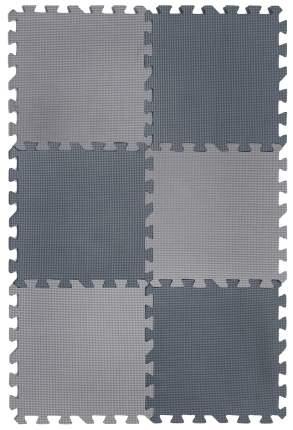 """Коврик-пазл 12"""" Funkids """"Симпл-12"""", серия NT, толщина 15 мм (05 серый), 6 плит"""