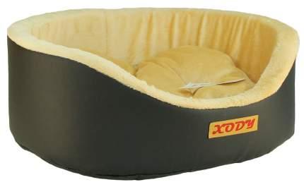 Лежак для собак и кошек Xody Премиум №4, кожа, 64х49х20 см