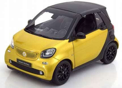 Модель Smart Forfour Passion Proxy B66960297 Scale 1:43 Black-Yellow