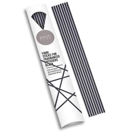 Палочки для ароматического диффузора фибра BAGO home 20 см, цвет черный