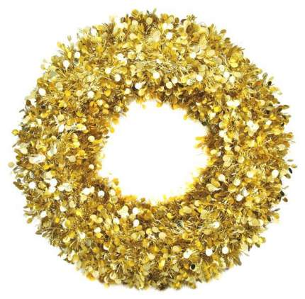 Венок новогодний Феникс Present Большой с золотыми кругами 78835