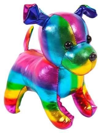 """Собака разноцветная 15см. Игрушка мягкая серии """"Металлик"""""""