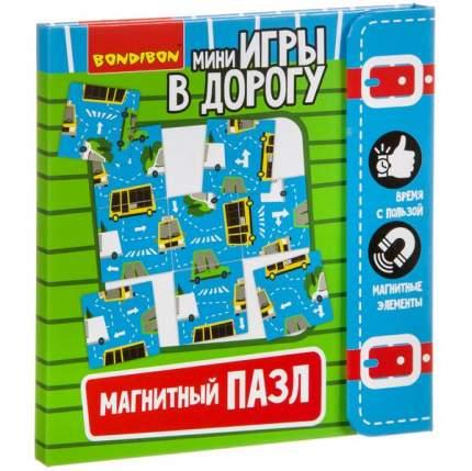 Компактные развивающие игры в дорогу  МАГНИТНЫЙ ПАЗЛ 5+