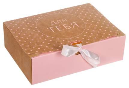 """Коробки складные подарочные Дарите Счастье """"Для тебя"""", 31x24,5x9 см, 10 штук, арт. 3222445"""