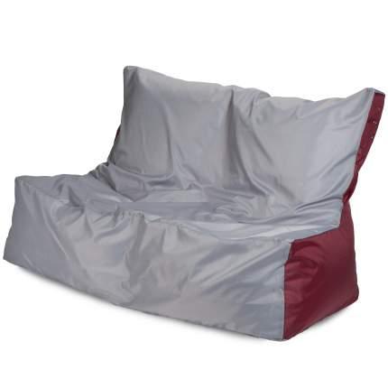 Бескаркасный диван ПуффБери Оксфорд one size, оксфорд, Серый/Бордовый