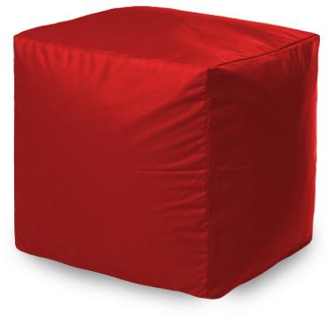 Пуф бескаркасный ПуффБери Квадратный Оксфорд, размер S, оксфорд, красный
