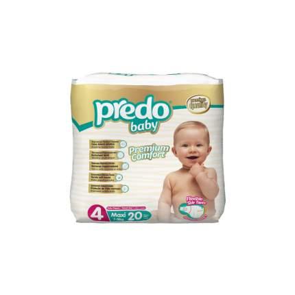Подгузники Predo Baby Экономичная пачка (20 шт.) № 4 (7-18 кг.) макси