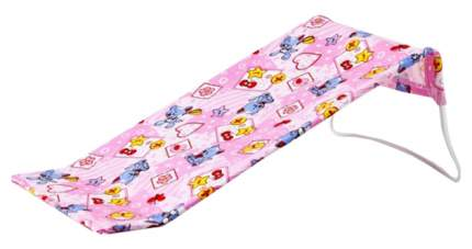 Горка для купания из фланели Карапуз цвет розовый