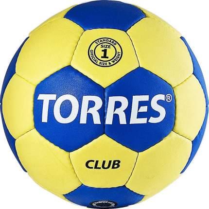 Мяч гандбольный Torres Club SS19, 1, желтый/синий