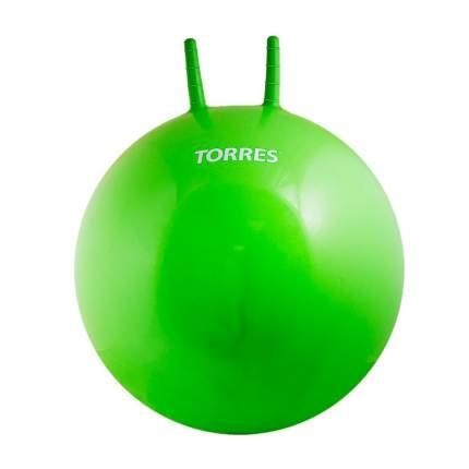 Мяч гимнастический Torres с рожками, зеленый, 65 см
