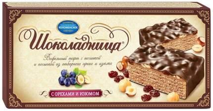 Вафельный торт Шоколадница с орехами и изюмом 270 г