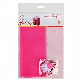 Набор для оформления подарков, розовый