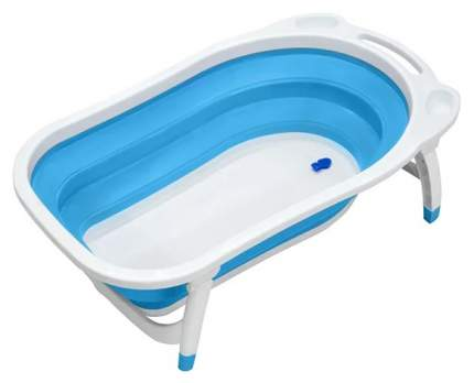 Ванночка пластиковая Funkids Folding Smart Bath голубой