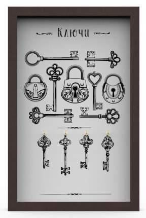 """Ключница """"Ключи 9"""" 29x45 см массив дерева, венге Дубравия KD-041-022"""
