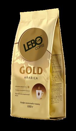 Кофе молотый Lebo gold arabica для заваривания в чашке 100 г