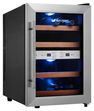 Винный шкаф Kitfort KT-2404 Silver