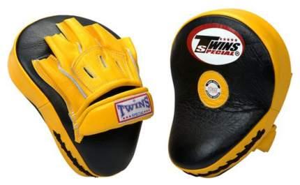 Боксерские лапы Twins Special PML-10 черно-желтые