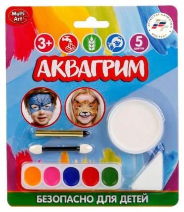 Аквагрим Multiart 6 красок, спонж, аппликатор, карандаш