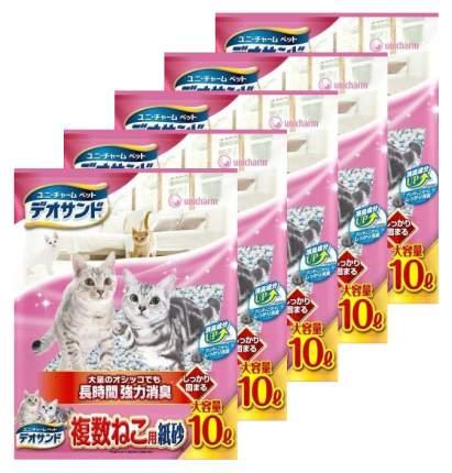 Впитывающий наполнитель для кошек UNICHARM бумажный, 2.795 кг, 10 л