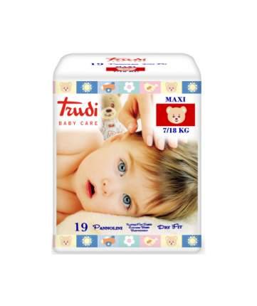 Подгузники детские TRUDI для малышей №4 MAXI 7 - 18 кг,, 18 шт