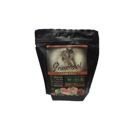 Сухой корм для собак Primordial Grain Free Adult All, курица, лосось, 0.4кг