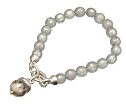 Браслет Moon Paris серебряное кольцо, агат (серый)