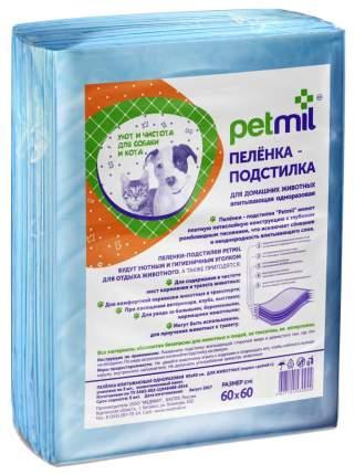 Пеленки для домашних животных Petmil одноразовые 60х60 см 10 штук