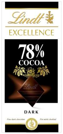 Шоколад Lindt excellence 78% какао 100 г