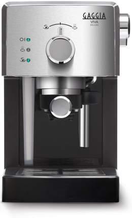 Рожковая кофеварка Gaggia Viva De Luxe RI8435/11 Silver/Black