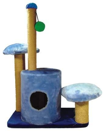 Комплекс для кошек Дарэлл, синий, бежевый, 3 уровня