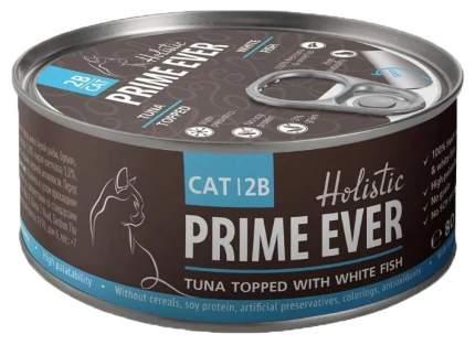 Консервы для кошек Prime Ever тунец с белой рыбой в желе 80 г