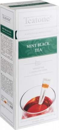 Чай черный Teatone с ароматом мяты 15 пакетиков