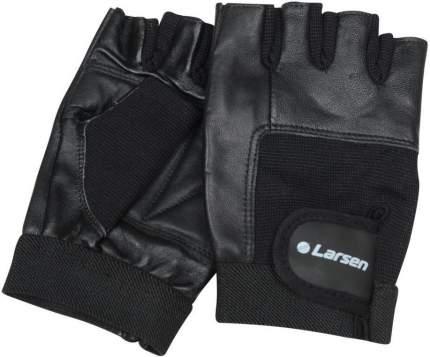 Перчатки для фитнеса и тяжелой атлетики Larsen NT506 черные M