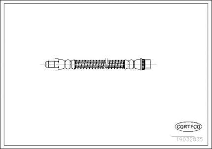 Шланг тормозной CORTECO 19032835