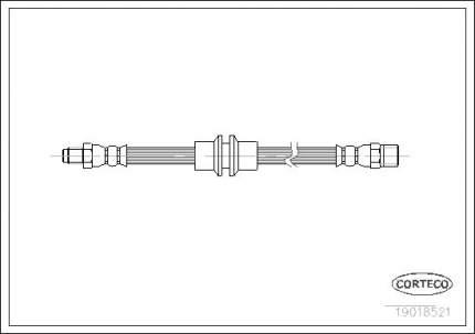 Шланг тормозной системы CORTECO 19018521