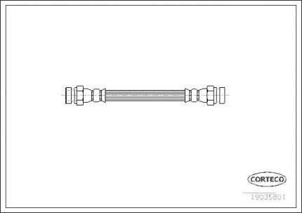 Шланг тормозной CORTECO 19035801