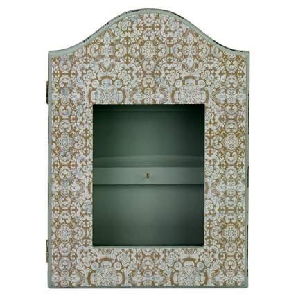 ML-4813 Ключница с узорами, со стеклянной дверцей (21x5.2x31 см.) /12