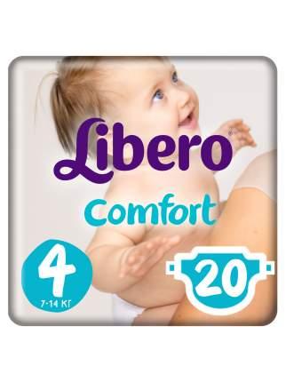 Подгузники Libero Comfort Size 4 (7-14кг), 20 шт.