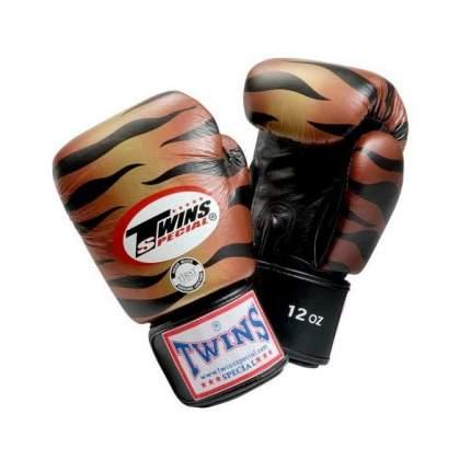 Боксерские перчатки Twins Special FBGV-1 оранжевые/черные 12 унций